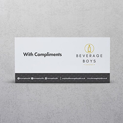 printed compliment slip design sample