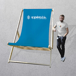 printed personalised giant deck chair