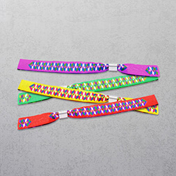 Fabric Wristbands - Metal Ring
