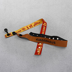 Brown Fabric Wristband with plastic security