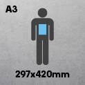 A3 (297 x 420mm)