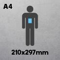 A4 (210 x 297mm)