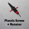 Plastic Screw Base (soft ground) + rotator