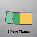 3 Part - 2 Stubs & Ticket