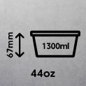 44oz (1300ml)
