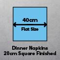 Dinner Napkins 40cm (Finished size 20cm square)