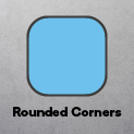 90mm Square - Rounded Corners