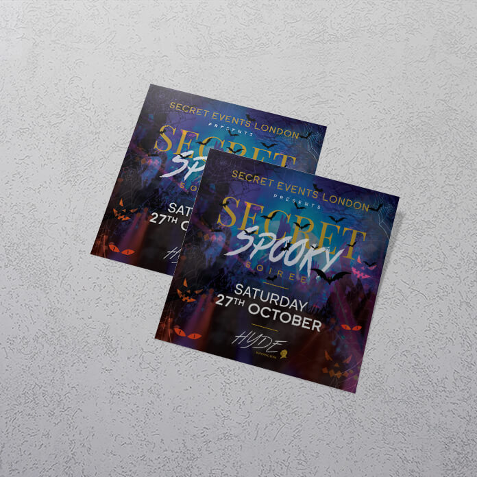 105mm Apprintable Square Flyers