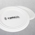 Apprintable 1 colour Paper Plates