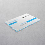 Blue Multi-layered Business Cards