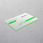 Green Multi-layered Business Cards