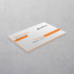 Orange Multi-layered Business Cards