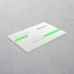 Pastel Green Multi-layered Business Cards
