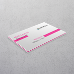 Pink Multi-layered Business Cards