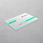 Turquoise Multi-layered Business Cards