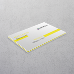 Yellow Multi-layered Business Cards
