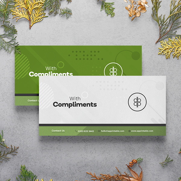 Apprintable Recycled Compliment Slips