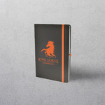 A5 Orange Notebook with Strap