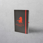 A5 Red Notebook with Strap