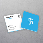 Multi-Layered Square Business Cards