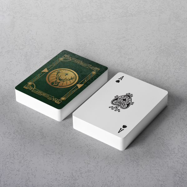 Printed Poker Size Playing Cards