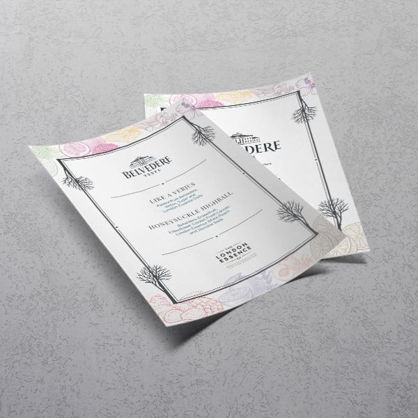 Same day printed menus