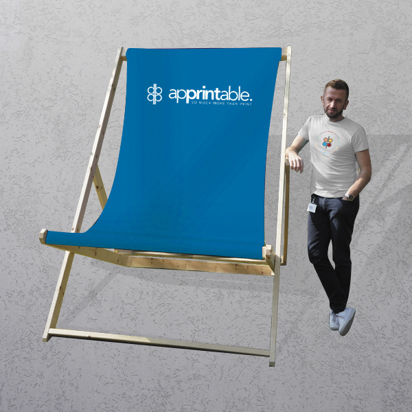 Apprintable Printed Giant Deck Chair