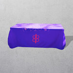 Apprintable Flowing Fabric Table Cloth