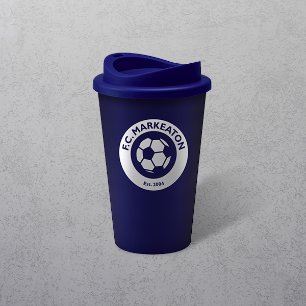 Apprintable Coloured Travel Cup Dark Blue
