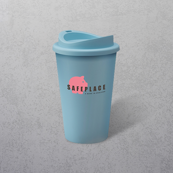 Apprintable Coloured Travel Cup Light Blue