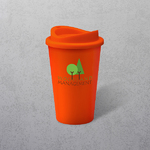 Apprintable Coloured Travel Cup Orange