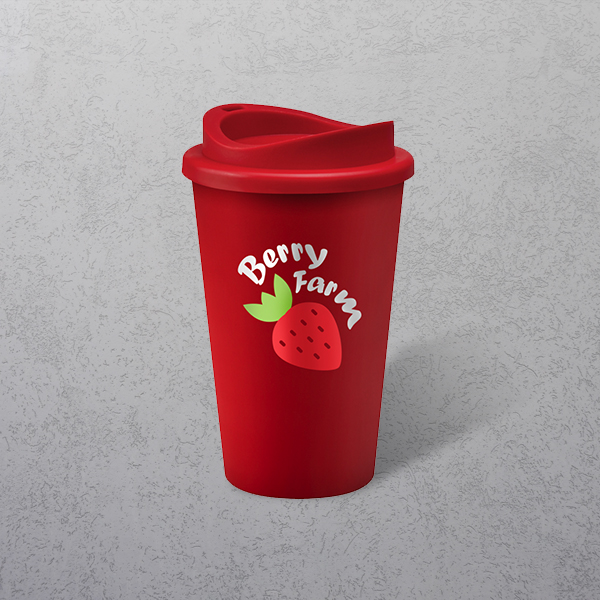 Apprintable Coloured Travel Cup Red