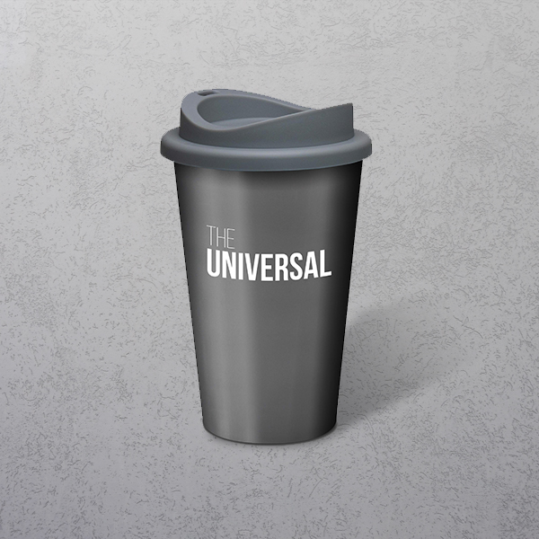 Apprintable Coloured Travel Cup Silver