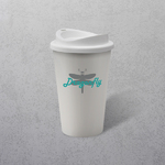 Apprintable Coloured Travel Cup White