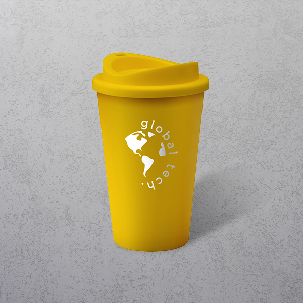 Apprintable Coloured Travel Cup Yellow