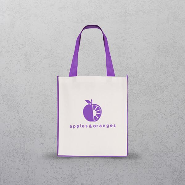 Purple Large Contrast Shopper