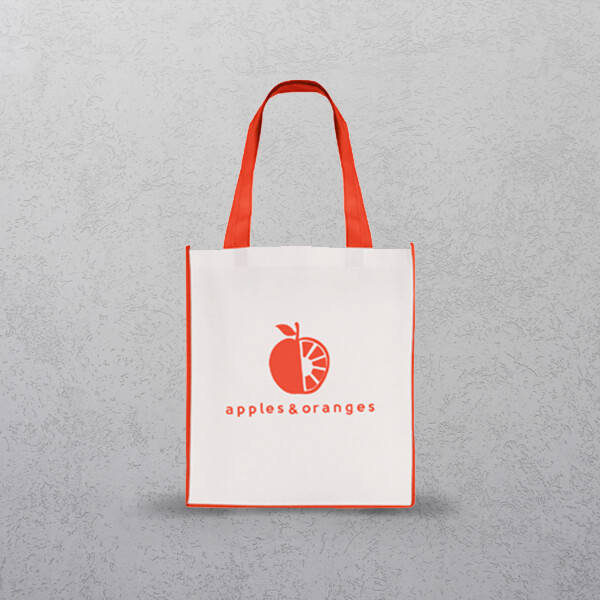 Red Large Contrast Shopper