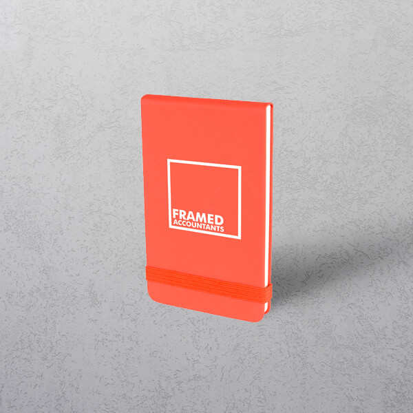 Printed Red Mini Notebook