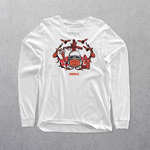 White Custom Long Sleeve T-shhirt