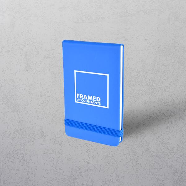Printed Blue Mini Notebook