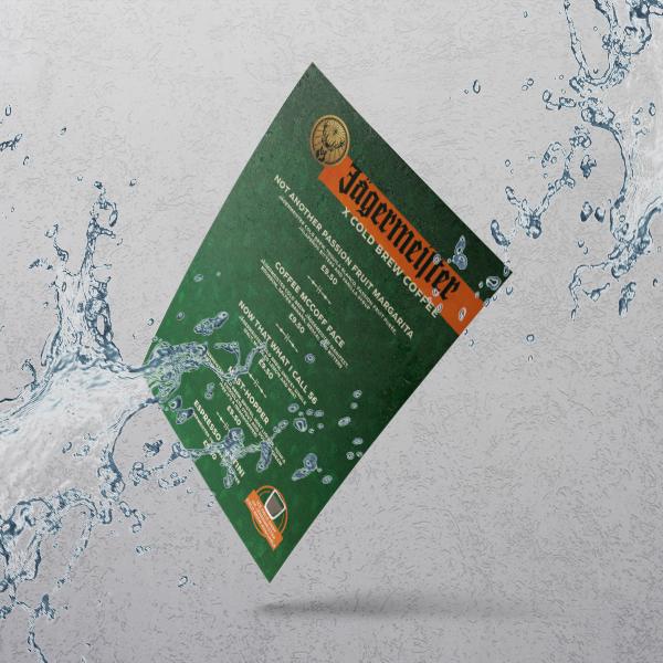 Apprintable Waterproof Menus